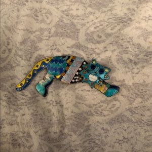 Handmade Crazy Kitty Pin